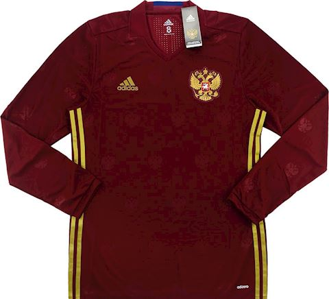 adidas Russia Mens LS Player Issue Home Shirt 2016 Image 5