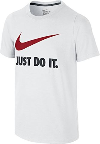 Nike Just Do It Swoosh Older Kids'(Boys') T-Shirt - White Image