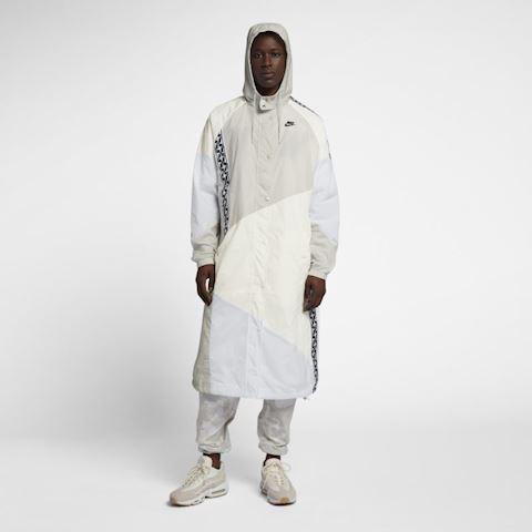 Nike Sportswear Men's Woven Long Jacket - Cream Image