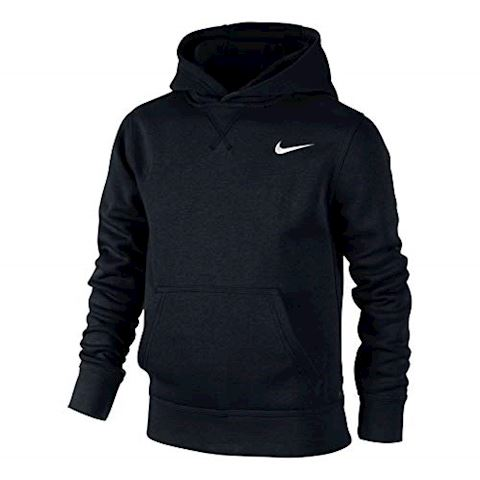 Nike YA76 Brushed Fleece Pullover (8y-15y) Older Boys'Hoodie - Black Image