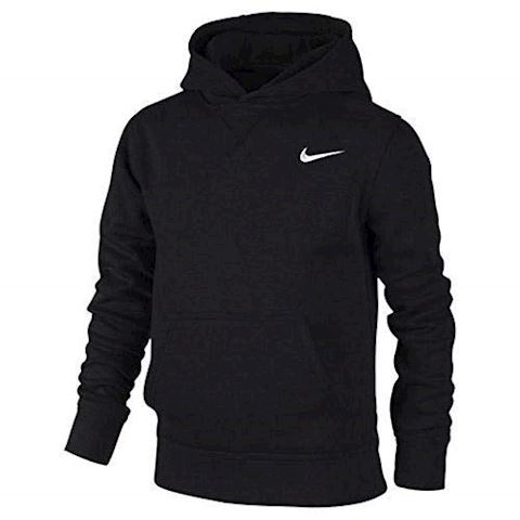 Nike YA76 Brushed Fleece Pullover (8y-15y) Older Boys'Hoodie - Black Image 3