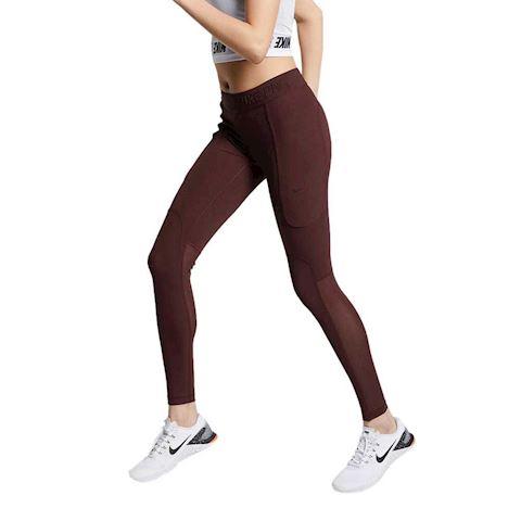b2c10bb6a891 Nike Pro HyperCool Women s Ribbed Yoga Tights - Brown Image