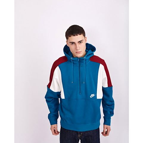 Nike Re-Issue Half Zip Fleece Hoody Blue Abyss, Red & Sail Image