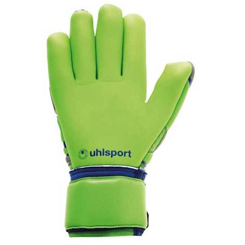 Uhlsport Goalkeeper Gloves TensionGreen Absolutgrip Finger Surround - Dark Grey/Fluo Green/Navy Image 2