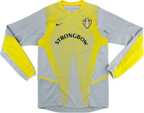 Nike Leeds United Kids LS Goalkeeper Home Shirt 2002/03 Image 3