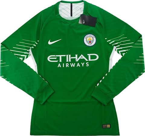Nike Manchester City Mens LS Goalkeeper Player Issue Home Shirt 2017/18 Image