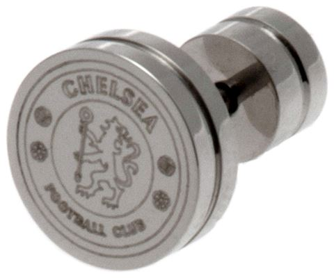 Stainless Steel Chelsea Crest Stud Earring. Image