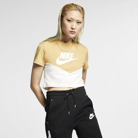 f82688eb Nike Sportswear Heritage Women's Short-Sleeve Top - Cream | AR2513 ...