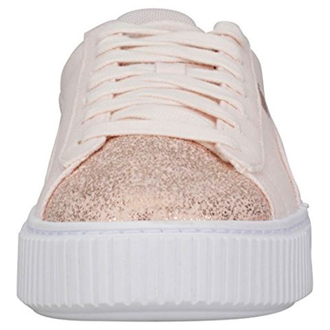 Puma  BASKET PLATFORM CANVAS W'S  women's Shoes (Trainers) in Pink