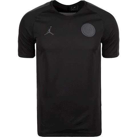 Nike Paris Saint-Germain Dri-FIT Breathe Squad Men's Short-Sleeve Football Top - Black Jordan x PSG Image
