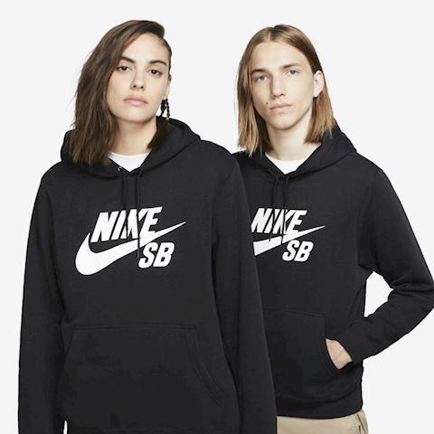 Nike SB Icon Men's Pullover Skate Hoodie - Black Image
