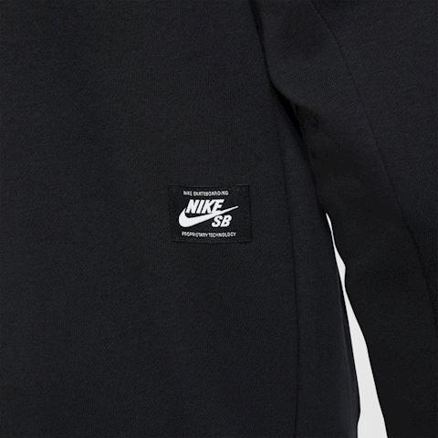 Nike SB Icon Men's Pullover Skate Hoodie - Black Image 4