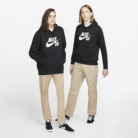 Nike SB Icon Men's Pullover Skate Hoodie - Black Image 5
