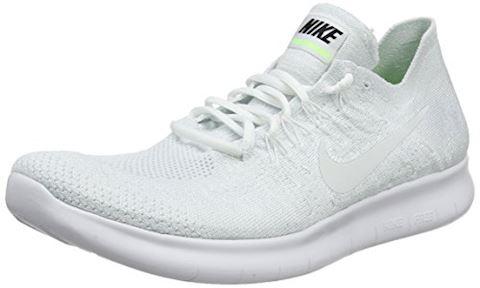 Nike Free RN Flyknit 2017 Men's Running Shoe - White Image