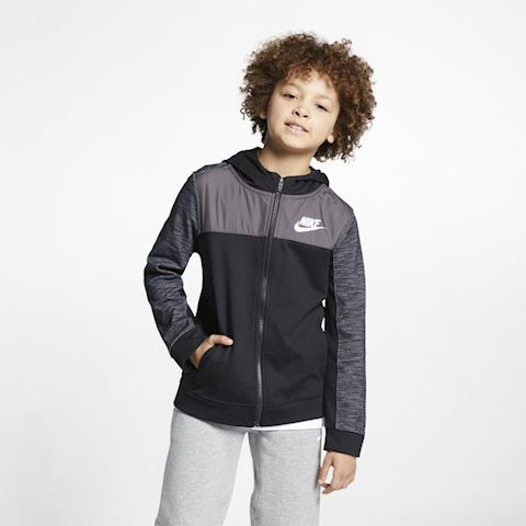 Nike Sportswear Advance 15 Older Kids' (Boys') Full-Zip Hoodie - Black Image