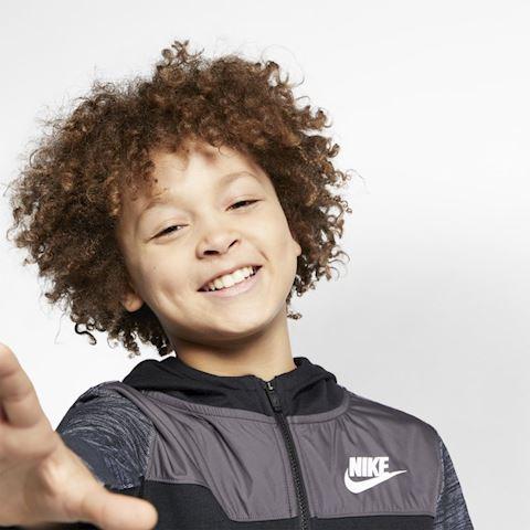 Nike Sportswear Advance 15 Older Kids' (Boys') Full-Zip Hoodie - Black Image 3