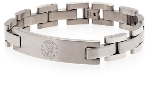 Chelsea FC - Crest - Stainless Steel and Leather - Bracelet Image