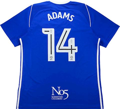 adidas Birmingham City Mens SS Home Shirt 2017/18 Image 3