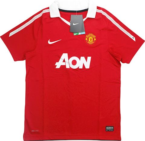 Nike Manchester United Kids SS Home Shirt 2010/11 Image 3