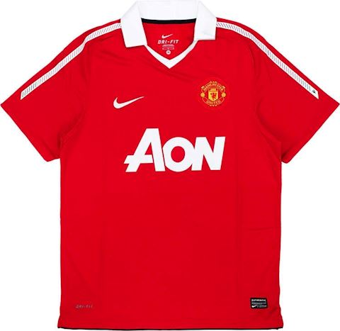 Nike Manchester United Kids SS Home Shirt 2010/11 Image 4
