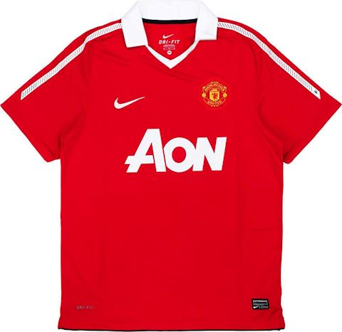 Nike Manchester United Kids SS Home Shirt 2010/11 Image 6