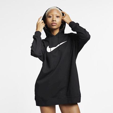 Nike Sportswear Swoosh Women's French Terry Hoodie - Black Image