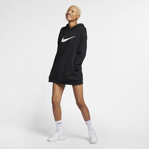 Nike Sportswear Swoosh Women's French Terry Hoodie - Black Image 2
