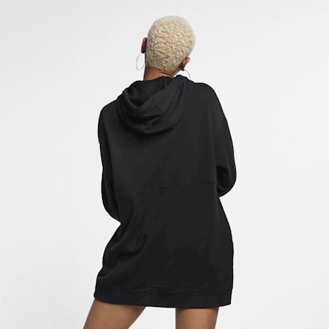 Nike Sportswear Swoosh Women's French Terry Hoodie - Black Image 3