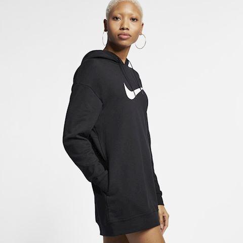 Nike Sportswear Swoosh Women's French Terry Hoodie - Black Image 4