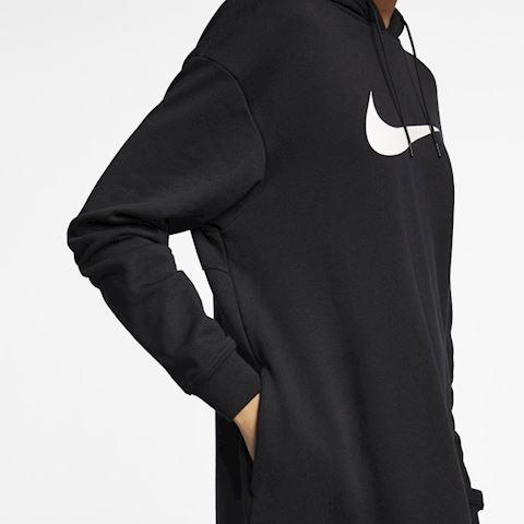 Nike Sportswear Swoosh Women's French Terry Hoodie - Black Image 5