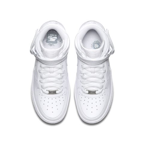 Nike Air Force 1 Mid 06 Kids' Shoe - White Image 4