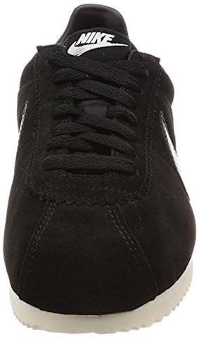 Nike Classic Cortez Suede Women's Shoe - Black Image 4