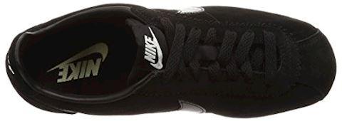 Nike Classic Cortez Suede Women's Shoe - Black Image 7
