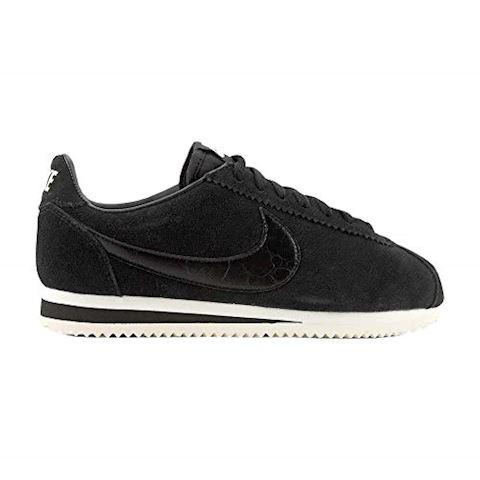 Nike Classic Cortez Suede Women's Shoe - Black Image 8