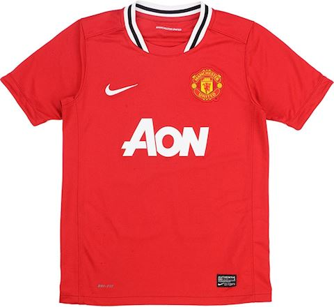 Nike Manchester United Kids SS Home Shirt 2011/12 Image 3