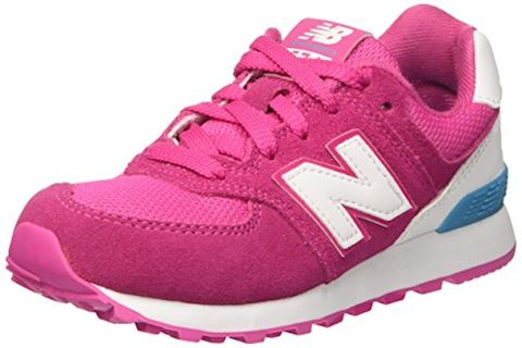 New Balance 574 High Visibility Kids Grade School Shoes Image
