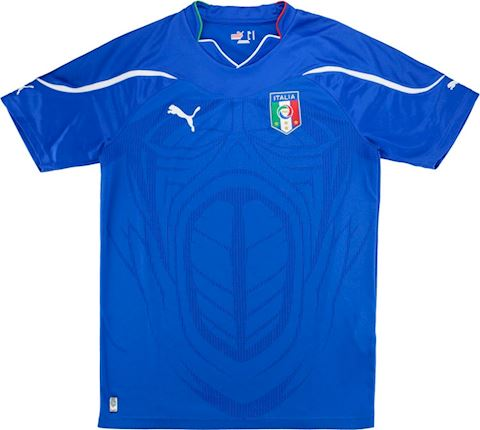 Puma Italy Kids SS Home Shirt 2010 Image 2