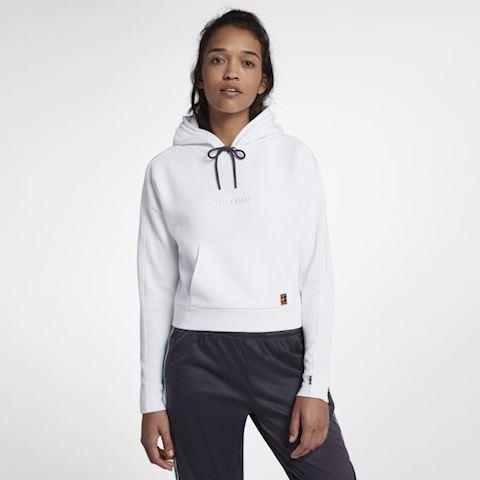 NikeCourt Women's Pullover Tennis Hoodie - White
