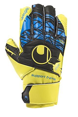 Uhlsport Goalkeeper Gloves SPEED UP Soft Support Frame - Yellow/Black/Blue Kids Image