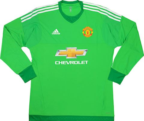 adidas Manchester United Mens LS Goalkeeper Player Issue Home Shirt 2015/16 Image