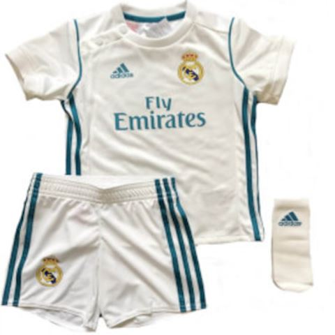 adidas Real Madrid Baby SS Home Mini Kit 2017/18