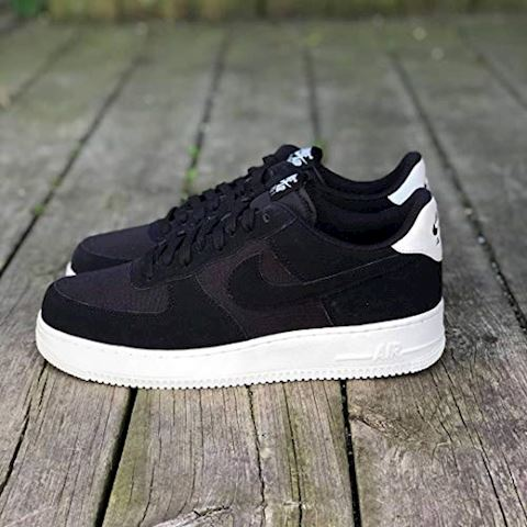 Nike Air Force 1'07 Suede Men's Shoe - Black Image 4