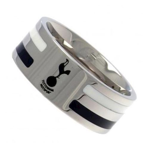 Tottenham Hotspur Colour Stripe Crest Band Ring - Stainless Steel Image