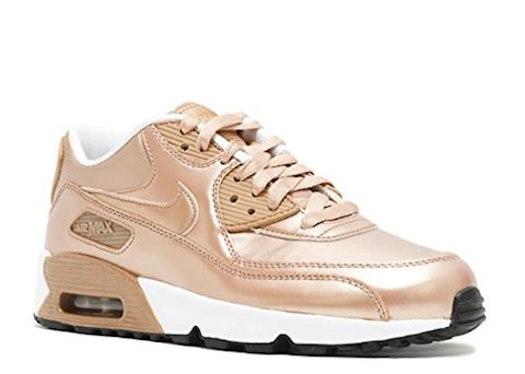 Nike Air Max 90 Leather Kids Trainers Gold Image