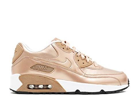 Nike Air Max 90 Leather Kids Trainers Gold Image 2