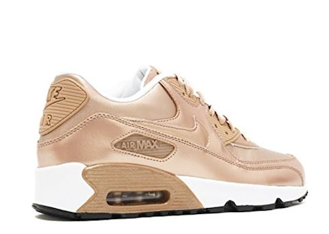 Nike Air Max 90 Leather Kids Trainers Gold Image 3