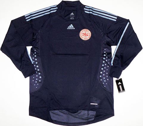 adidas Denmark Mens LS Goalkeeper Player Issue Home Shirt 2008 Image