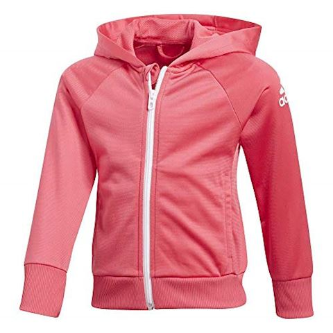 adidas Little Girls Knitted Tracksuit Image 2