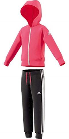 adidas Little Girls Knitted Tracksuit Image 5