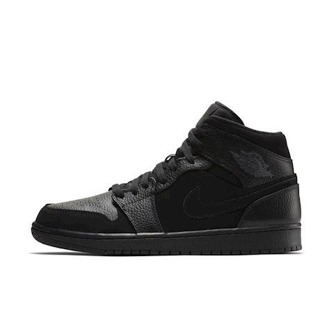 Nike Air Jordan 1 Mid Men's Shoe - Black Image